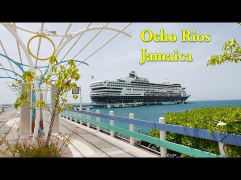 Ocho Rios Jamaica Cruise Port & Island Village Margaritaville Beach (4K)