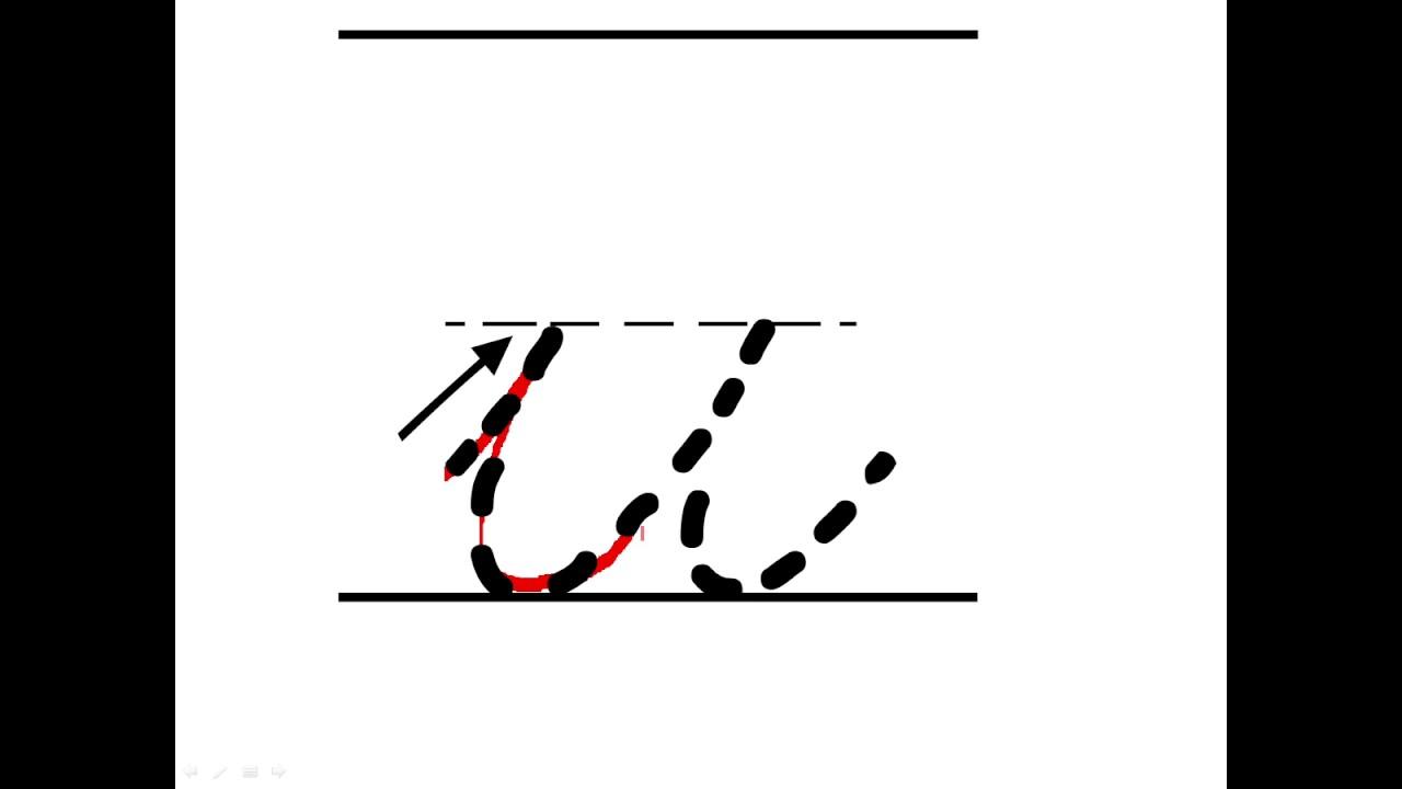 Cursive Lowercase u - YouTube