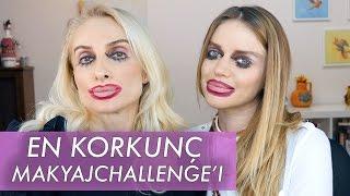 Ters Makyaj Korkunç Challenge !!!  ECEM KARAVUS   Sebi Bebi