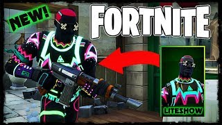 "NEW Fortnite ""LITESHOW"" Skin Gameplay!"