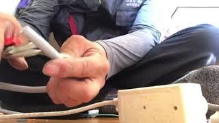 에어컨설치영상(콘센트만드는방법) 부산 사상냉열 소속기사