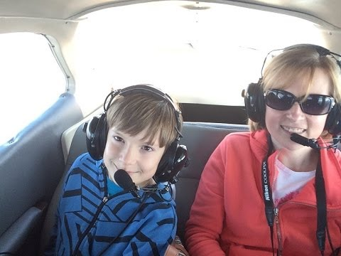 Cessna Flight for Mikylo's Birthday!  Watch out Iron Eagle & Top Gun,