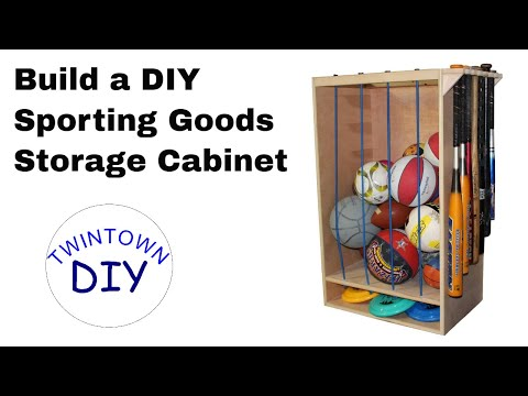 How To Make A DIY Sporting Goods Storage Cabinet