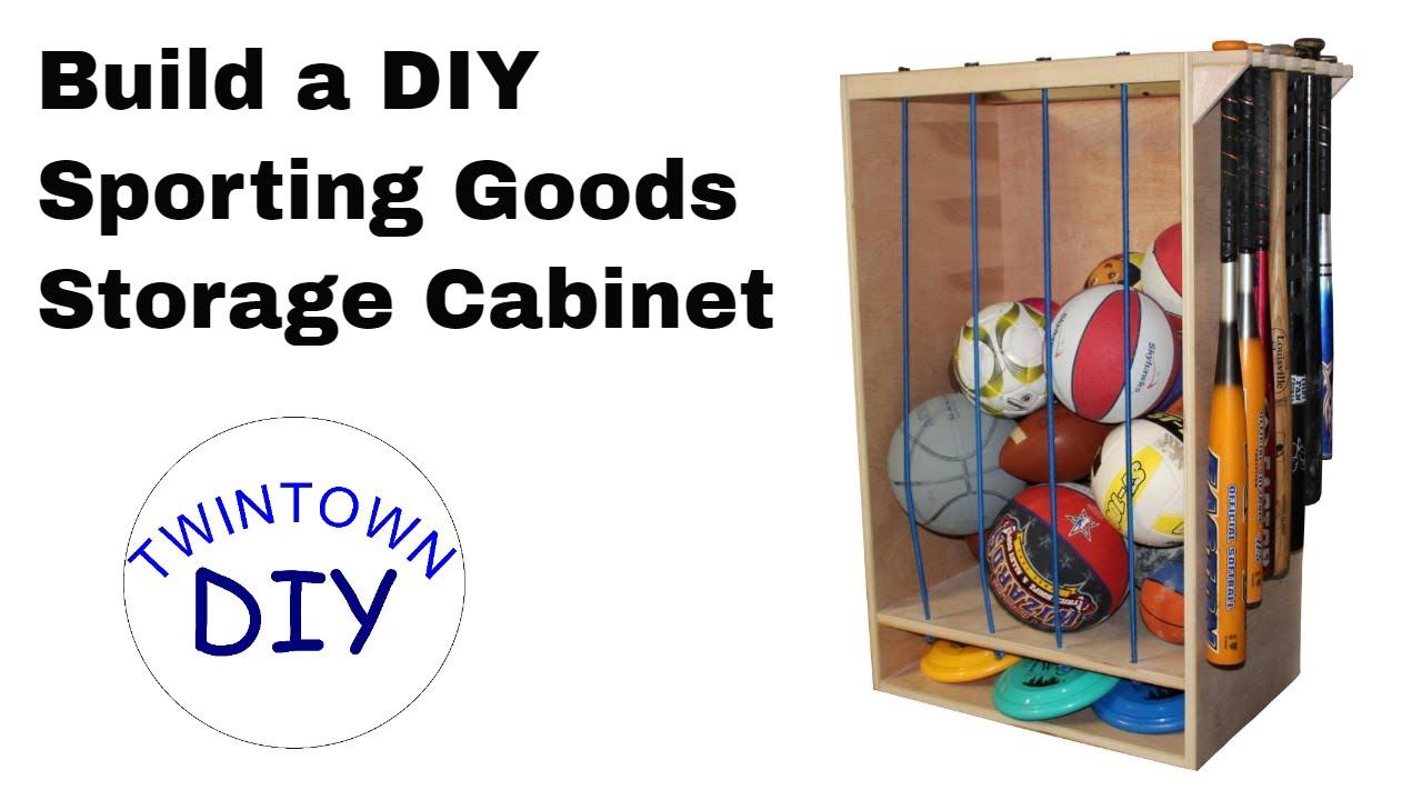 Diy Sporting Goods Storage Cabinet