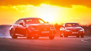 New Lexus Rc F Vs Bmw M4 - Drift And Drag Race Head-To-Head