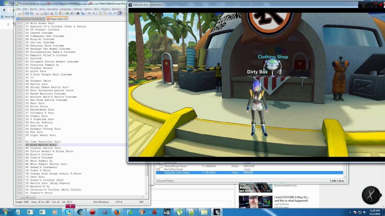TeamXPG] DRAGON BALL XENOVERSE 2 *item Codes*   XPG Gaming Community