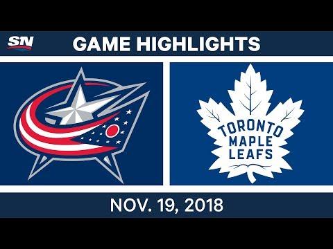 NHL Highlights | Blue Jackets vs. Maple Leafs – Nov. 19, 2018
