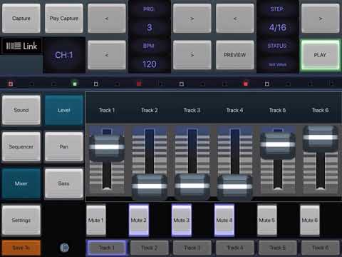 6X806 Noise Drum Synth Sequencer App for IOS