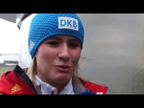 Natalie Geisenberger Flying Fox Olympiastadion München