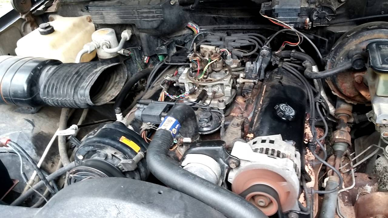 1991 gm 7 4l 454 complete engine tbi
