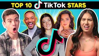 Teens React To Top 10 TikTok Stars (Charli D'Amelio, Addison Rae, Will Smith)