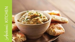 Baba Ganoush Recipe (roasted Eggplant Middle Eastern Dip)  By Archana's Kitchen
