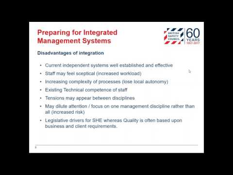 Webinar: Benefits of integrated management systems