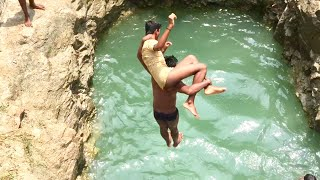 Village funny  swimming video / Village boys swimming in well - Come to village