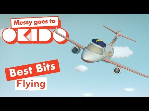 Messy Goes to Okido - Flying Best Bits | Cartoons For Children | Cbeebies