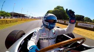 Classic Mercedes F1 Hillclimb Onboard with Valtteri Bottas!