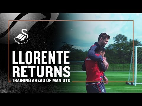 Training ahead of Man Utd | Llorente returns and cheeky Roque