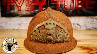 Very Rusted Firefighter Helmet Restoration