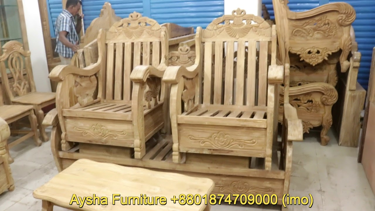 Wooden Sofa Set Drawing Room Decoration Youtube