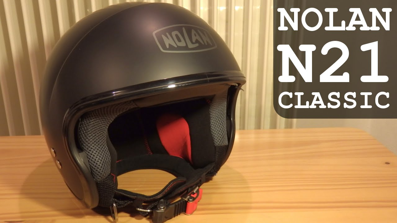 nolan n21 classic demi jet helmet with retractable visor unboxing overview youtube. Black Bedroom Furniture Sets. Home Design Ideas