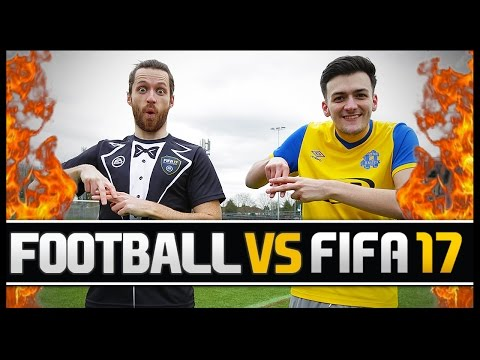 FOOTBALL VS FIFA WITH HASHTAG HARRY! (PRO FIFA PLAYER)