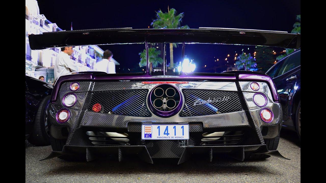 Lewis Hamilton Pagani Zonda 760LH in Monaco - YouTube