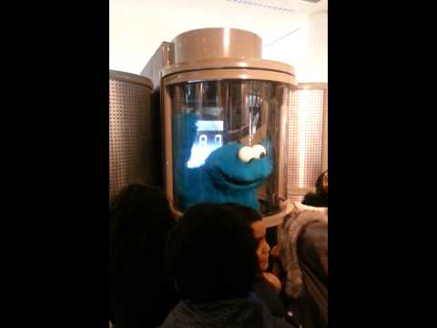 Cookie Monster Experiences Hurricane Simulator