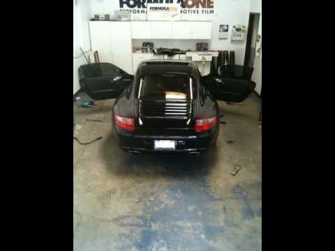 Tinting a Porsche in less than a minute!
