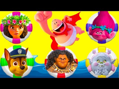 Thumbnail: Trolls Poppy Rides Water Slide Playset Adventure with Paw Patrol and Captain Underpants