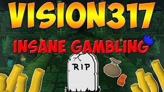 Vision317 [Custom] RSPS: I CLEANED THE SERVER OWNER?! (Insane Gambling)!