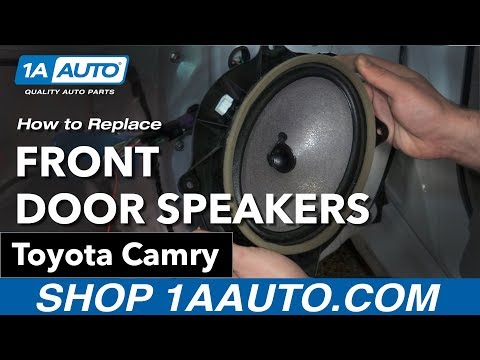 How To Replace Front Door Speakers 06-11 Toyota Camry