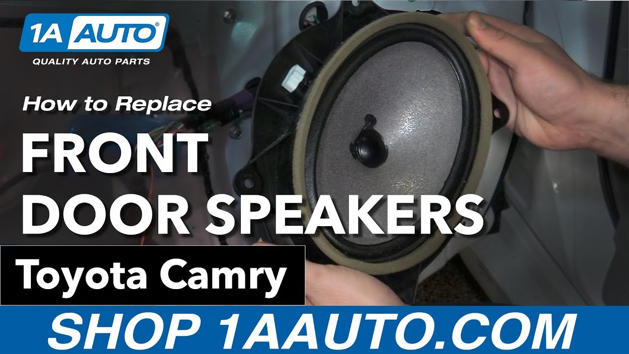 How to Replace Install Front Door Speakers 09 Toyota Camry - YouTube