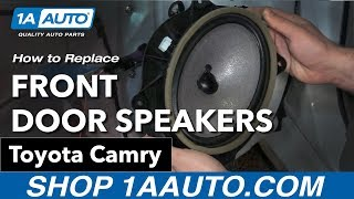 How to Replace Install Front Door Speakers 09 Toyota Camry