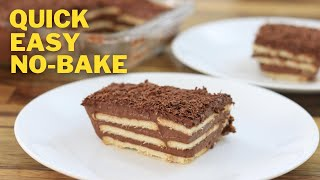 This chocolate pudding recipe is eggless, no-bake and really easy to make. layers of biscuits dipped in milk rich custard. chocola...