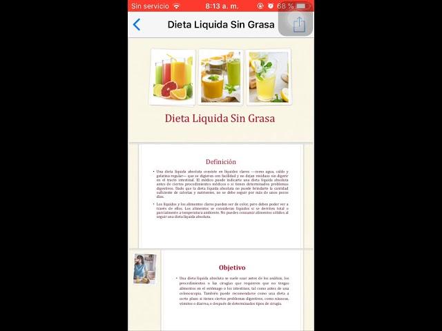 definicion de dieta liquida