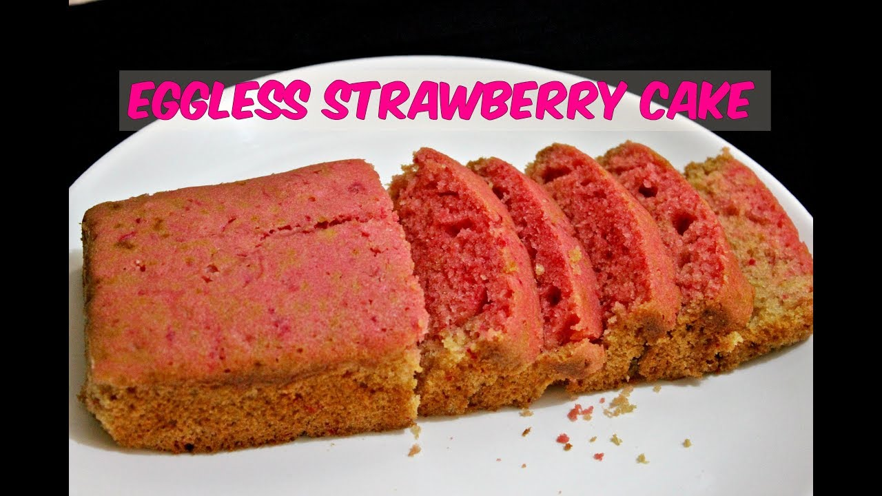 Eggless Cake Recipe In Marathi With Oven: Strawberry Cake Eggless Recipe/Without Oven/Easy