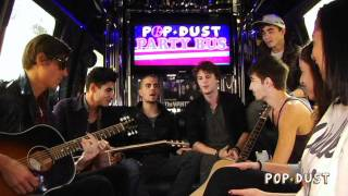 "The Wanted perform ""All Time Low"" on the POPDUST Party Bus"