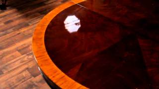 High End Furniture, Pie Cut Mahogany Dining Table