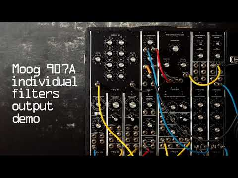 Moog 907A Fixed Filter Bank: individual filters output
