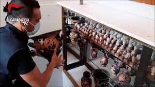 Reperti archeologici pugliesi rientrano in Italia dal Belgio