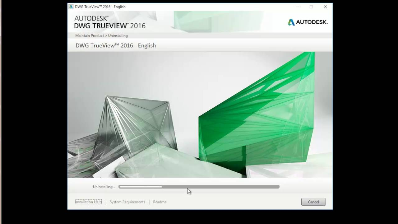 Uninstall Autodesk DWG TrueView 2016 - English