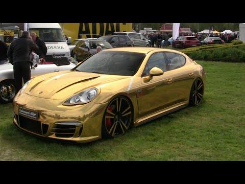 Chrome Gold Porsche Panamera