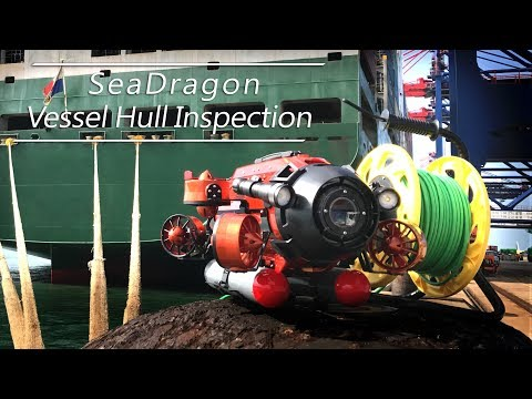 TTRobotix SeaDragon  Vessel hull inspection at Taipei port