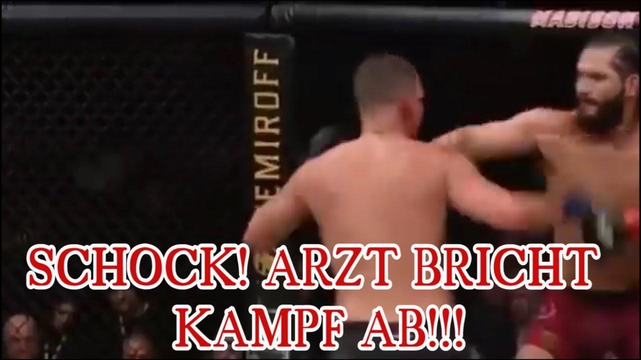UFC 244 Jorge Masvidal vs Nate Diaz - Arzt bricht Kampf ab!