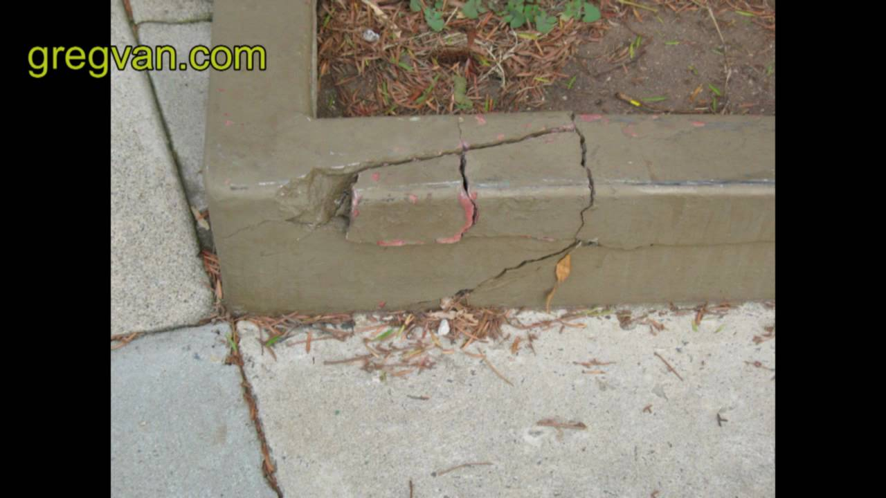 Concrete curb damage tips youtube for Concrete advice