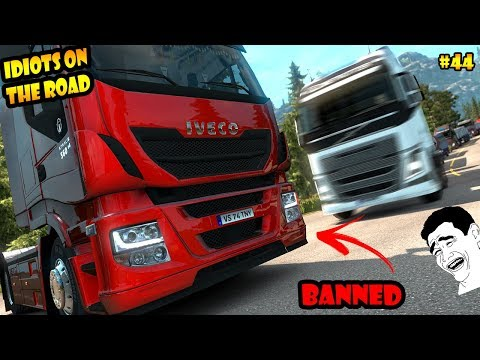 ★ IDIOTS on the road #44 - ETS2MP - Funny moments - Euro Truck Simulator 2 Multiplayer - 동영상