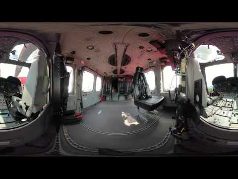 360° experience at #PAS19: AW139 cabin