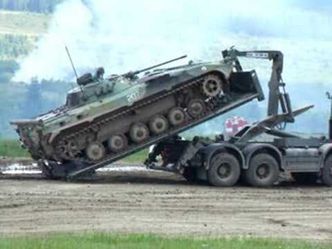 Loading of BMP-2 on the Tatra T-815 (Part 2)