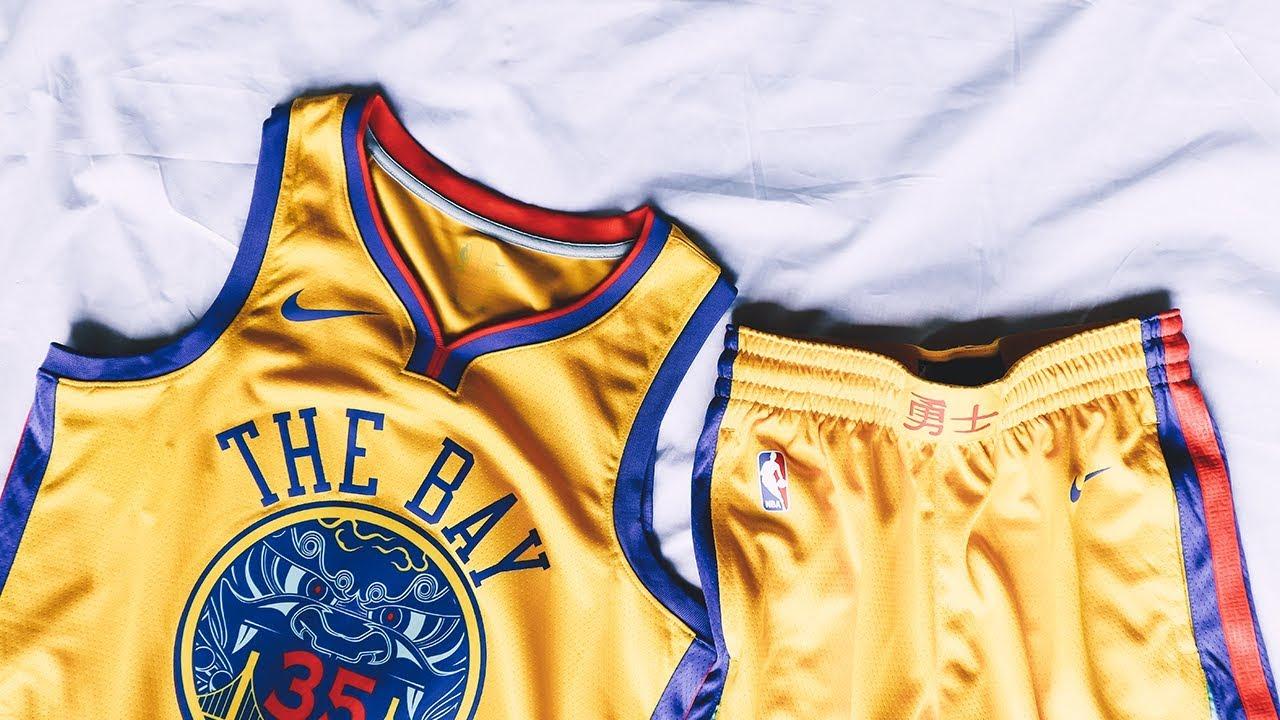 save off a1b8b 70323 A CLOSER LOOK AT: the Golden State Warriors NBA City Edition Swingman  Jersey, Short & Cap