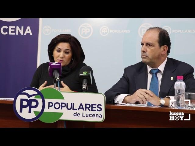 VÍDEO: El PP critica la negativa de PSOE y Ciudadanos a aprobar un paquete de enmiendas relativas a Lucena